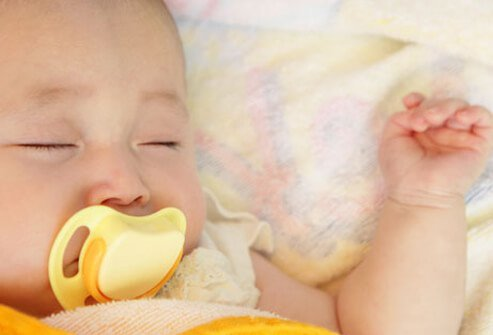 Infants have a strong sucking instinct, so a pacifier can calm your colicky baby.