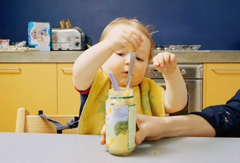 Jarred food should not be saved for later meals, as this can introduce harmful bacteria.