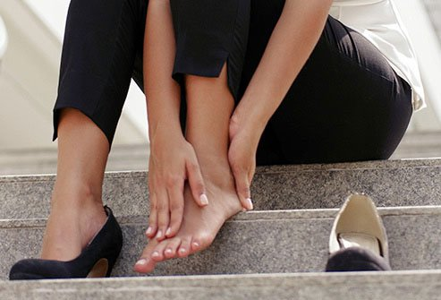 Walking in high heels may cause you to overuse muscles in your lower back and harm your posture.