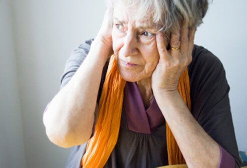 A woman suffers from the symptoms of Ménière's disease.