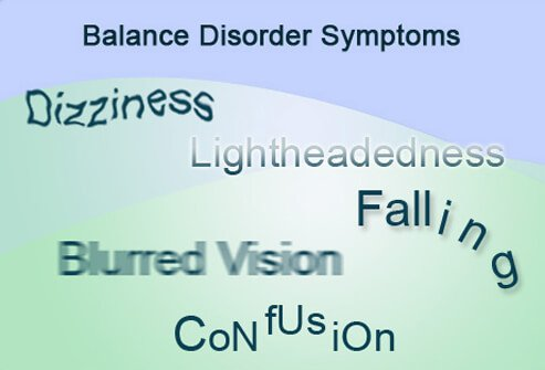 Some of the common symptoms of a balance disorder include dizziness.