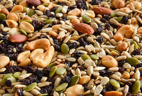 Nuts and seeds provide magnesium and other health benefits.