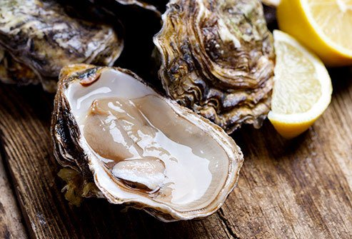 You'll get protein and zinc, but it's best to cook oysters, not eat them raw.