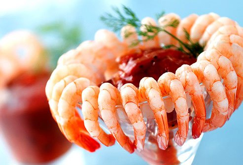 The shrimp are usually steamed or boiled, which is pretty healthy.