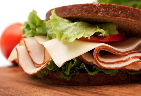 Deli meat is a good option, but make sure to get a low-sodium variety.