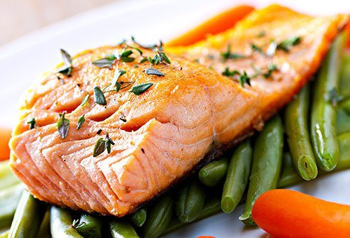 One of the best foods for acne is omega-3 fatty acid rich salmon.