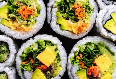 Sushi does not have to include fish.