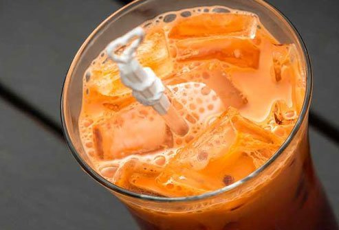 Traditional Thai iced tea is packed with sugar, fat, and calories.