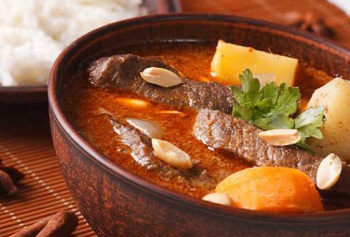 Massaman curry is very high in fat and calories.
