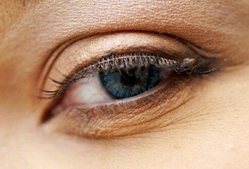 Photo of lash extensions.