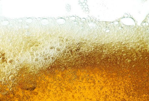 Photo of fizzing beer.