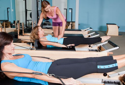 Peeke is a fan of Pilates because it strengthens the core of your body: your back and abs.