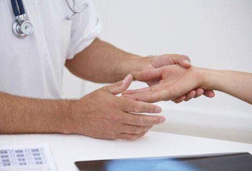With the Tinel test, the doctor will tap on the median nerve to see if it triggers tingling in the fingers.