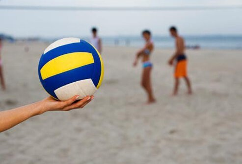 Photo of beach volleyball.