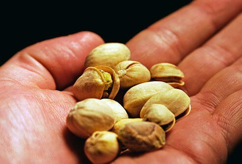 A handful of pistachios.