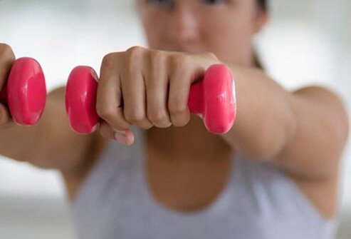 Strengthening muscles, with weights or resistance exercises, may help reduce pain.