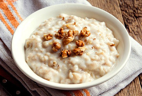 Oatmeal is a whole grain that is high in fiber and other cancer-fighting nutrients.