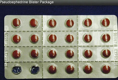 Pseudoephedrine blister package.