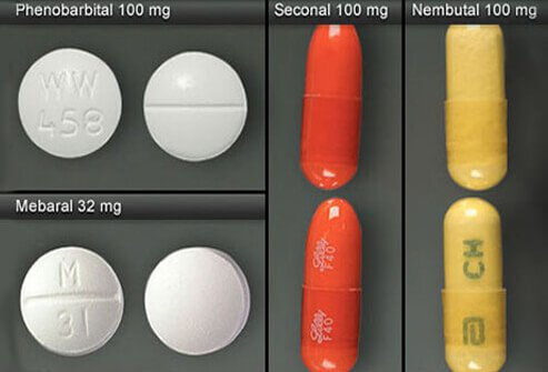Phenobarbital, Mebaral, Seconal, and Nembutal.