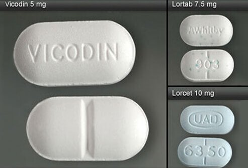 Vicodin, Lortab, and Lorcet.