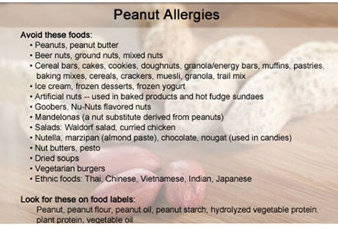 People with peanut allergies should avoid these foods and ingredients.
