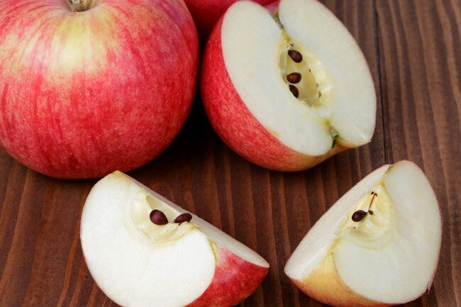 Be careful about swallowing apple seeds, which contain a small amount of cyanide.