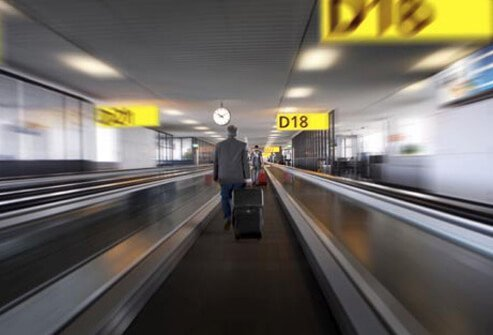 Photo of man in airport.