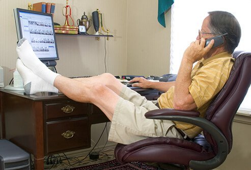 Put your feet up to maintain good blood flow.