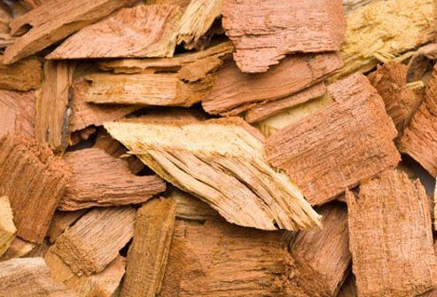 Photo of wood chips.