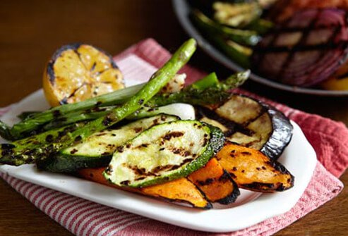 Photo of grilled veggies.