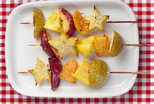Photo of grilled fruit.