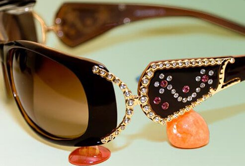 Photo of bedazzled eyeglasses.