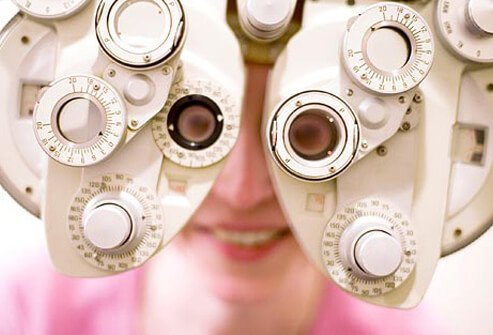Photo of eye exam.