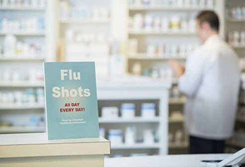 Flu vaccines are widely available in pharmacies, urgent care centers, clinics, doctor's offices, and university health centers.