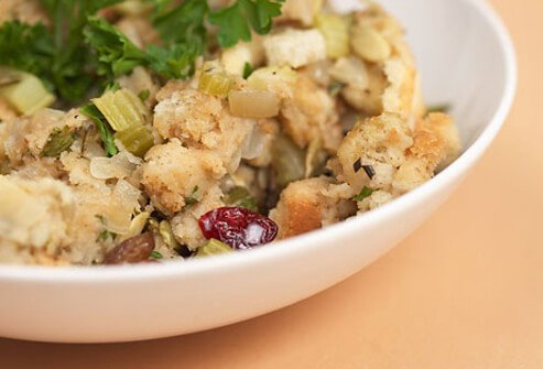 Most stuffing contains high-fat ingredients such as sausage and butter.