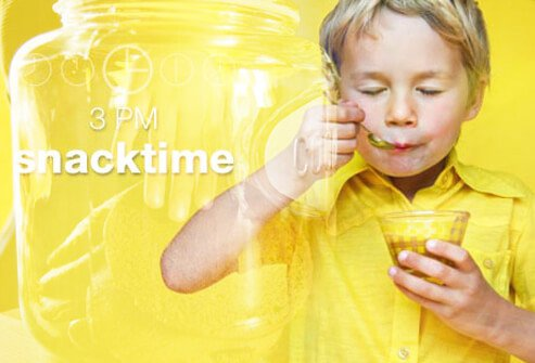 Get your child on track by setting a time frame each day for meals and snacks.