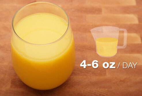or children ages 1 to 6, keep juice to 4 to 6 ounces a day.