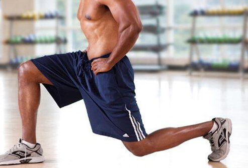 Photo of lunge exercise.