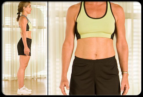 Straighten up, and your tummy looks trimmer without breaking a sweat!
