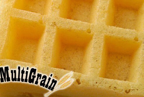 A close up of multigrain waffle.
