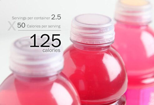 A photo of bottles of Vitamin Water.