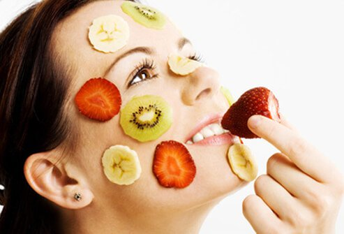 Eating healthy foods provides for glowing, vibrant, and younger-looking skin.