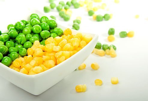 High starch veggies like corn and peas increase triglyceride levels.
