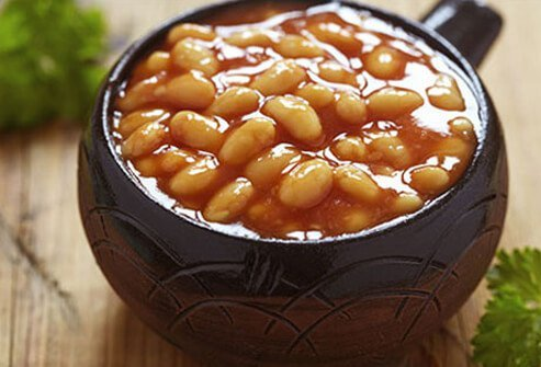 Beans with added sugar and pork may increase triglyceride levels.