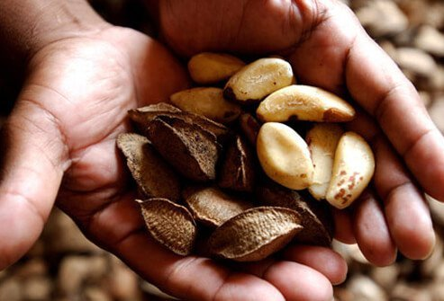 Brazil nuts are full of selenium, which helps prevent colds.