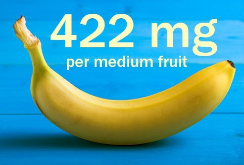 Bananas are the best known high potassium food.