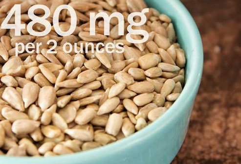 Use sunflower seeds as a potassium-rich salad topping.
