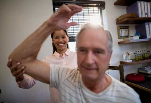 Once your frozen shoulder pain starts to ease up, your doctor might suggest arm exercises.