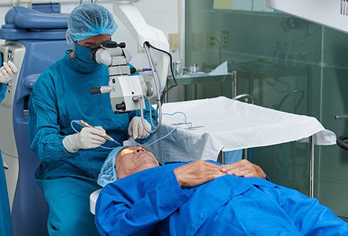 Traditional surgery can obviate glaucoma medication about half the time.