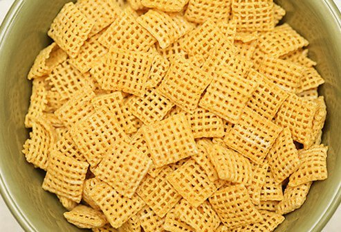 Bowl of gluten-free corn cereal.
